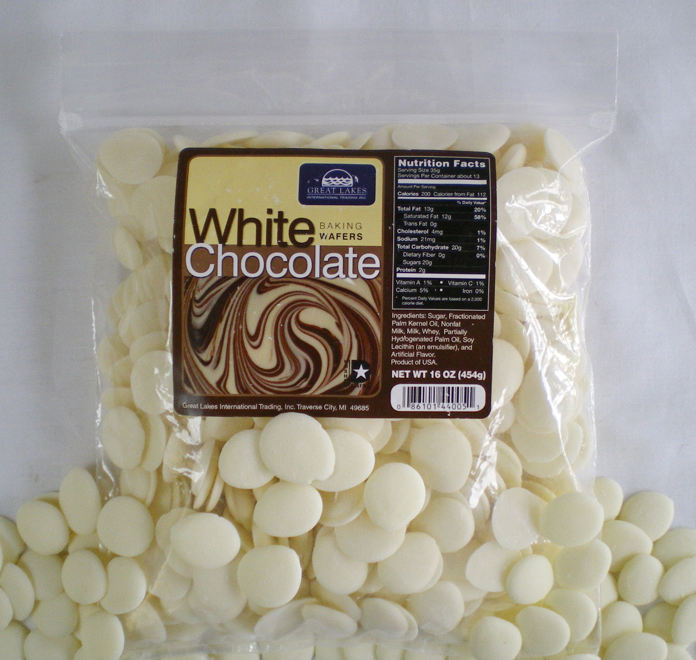 White Chocolate Baking Wafers: 16 oz Bags « Great Lakes ...